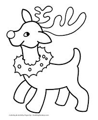 santa u0027s reindeer coloring pages reindeer christmas wreath