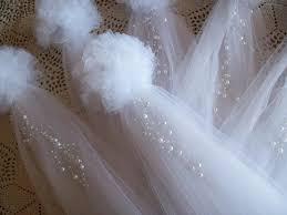 tulle decorations wedding ideas pew weddbook
