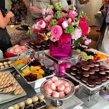 catering rentals dessert display at party rental ltd showcase in nyc