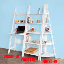 Leaning Ladder Desk by Amazon Com Haotian Frg61 W Modern 5 Tiers Ladder Shelf Bookcase