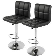 34 Inch Bar Stools Amazon Com Best Choice Products Set Of 2 Pu Leather Adjustable