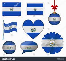 Salvadoran Flag El Salvador Flag Set 8 Items Stock Vector 254667322 Shutterstock