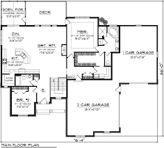 2 Car Garage Floor Plans Traditional Style House Plan 2 Beds 2 Baths 1935 Sq Ft Plan 70