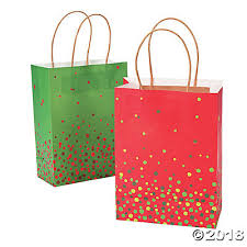 christmas gift bag medium christmas sprinkle kraft paper gift bags trading