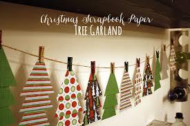 scrapbook paper tree garland diy