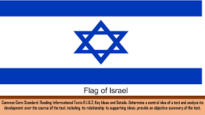 Flag Of Israel Common Core Standard Reading Informational Texts R I 8 2 Key