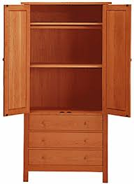 Tall Armoire Furniture Modern Shaker Tall Armoire Solid Hardwood Natural Finish