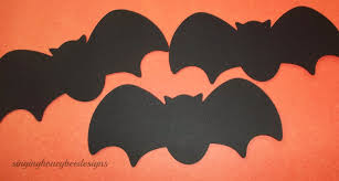 Bat Halloween Craft by Bats Die Cut Black Bat Diecut 1 5