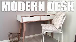 making modern furniture making a homemade modern desk console table hjemmelaget