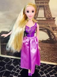 tangled princess rapunzel hard plastic barbie doll 10 5 disney