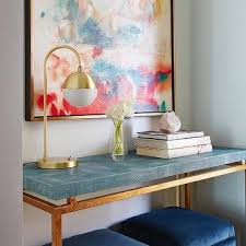 Shagreen Console Table by Blue Faux Shagreen Console Table Design Ideas