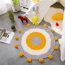 tapis rond chambre b nordique 80 80 cm crochet rond tapis et tapis pour enfants chambre