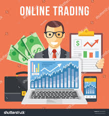 online trading flat illustration concept modern stock vector
