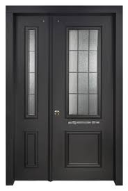 Steel Exterior Security Doors Decorative Residential Steel Security Doors With Many Finish