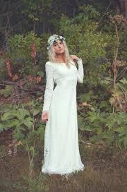 bohemian brautkleid vintage wedding dress backless ivory lace white sleeve