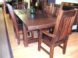 Maple Dining Room Table And Chairs Wormy Maple Yukon Turn Buckle 7 Pc Table Set Sawn Wormy