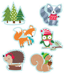 cut outs creative teaching press winter woodland friends 6 quot designer