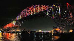 Bay Bridge Light Show Corpus Christi Official Harbor Bridge Lighting Youtube