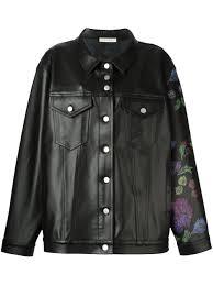 alyx clothing hbx alyx oversized leather jacket black women