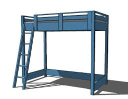 Designs For Building A Loft Bed by Ana White What Goes Under The Loft Bed How About A Big Bookcase