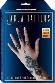 amazon com organic jagua black temporary tattoo and body