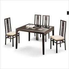poker cappuccino dining set wenge table 6 chairs esf
