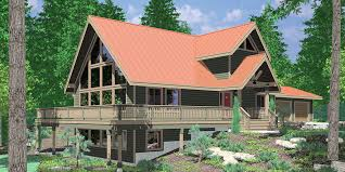 cabin plans with basement sloping lot house plans hillside house plans daylight basements
