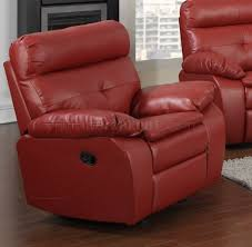 Leather Reclining Sofa And Loveseat Reclining Sofa U0026 Loveseat In Red Bonded Leather By Glory