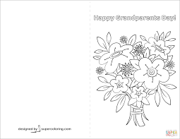 happy grandparents day card coloring page free printable