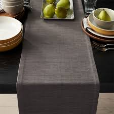 table runner grasscloth 90 graphite grey table runner in table runners