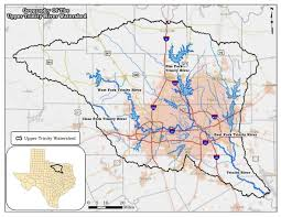 Dallas Fort Worth Metroplex Map by Upper Trinity River Watersheds Protecting Recreational Uses