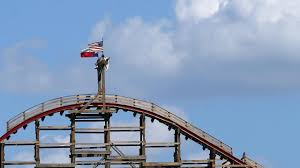 White Flag With Red Cross On Blue Square Six Flags Will Now Fly Only American Flags Time