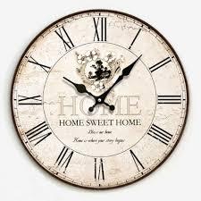 vintage flower wooden wall clock kitchen antique shabby chic retro