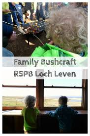 family bushcraft at rspb loch leven monkey and mouse
