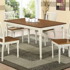 shop monarch specialties antique white oak rectangular dining