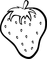 strawberry simple coloring book colouring sheet coloring book