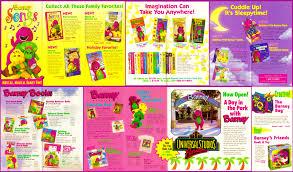 barney songs product pamphlet bestbarneyfan deviantart
