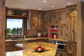 Hickory Kitchen Cabinets Impressive Rustic Hickory Kitchen Cabinets Solid Wood Furniture
