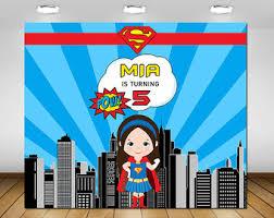Superhero Backdrop Supergirl Backdrop Etsy