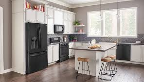 kitchen ideas with white cabinets and black appliances rkdwba36 ideas here riverton kitchen design with black