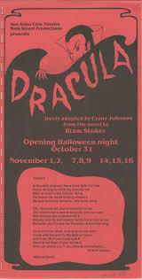 ann arbor halloween city ann arbor civic theatre program dracula october 31 1985 ann