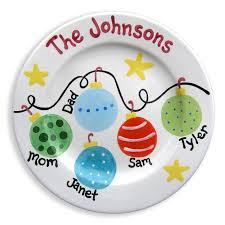 personalized ceramic plate christmas family plate personalized ceramic plate painted