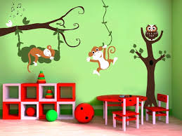 nursery monkey wall decals pictures image of hanging monkey wall decals