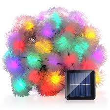decorative lights for home luckled solar christmas string lights 23ft 50 led chuzzle ball