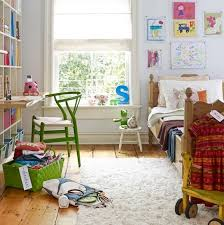 modern kids room within natural color scheme home interior
