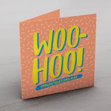 personalised congratulations card woo hoo cardfactory