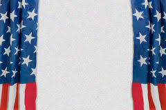 Curtains Show Theater Curtain With Flag Usa Royalty Free Stock Photography