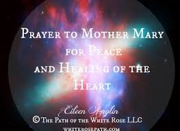 white light healing prayer prayer to mother mary for peace and healing of the heart eileen anglin