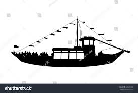 Wooden Nautical Flags Silhouette Profile View Portuguese Wooden Touristic Stock