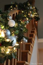 Banister Garland Ideas Christmas Home Tour Clean And Scentsible